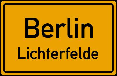 Straßenverzeichnis Berlin Lichterfelde