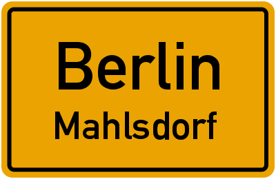 Straßenverzeichnis Berlin Mahlsdorf