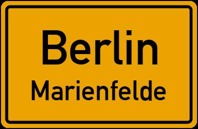 Ortsschild Berlin Marienfelde