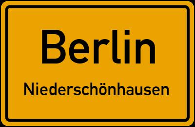 Straßenverzeichnis Berlin Niederschönhausen