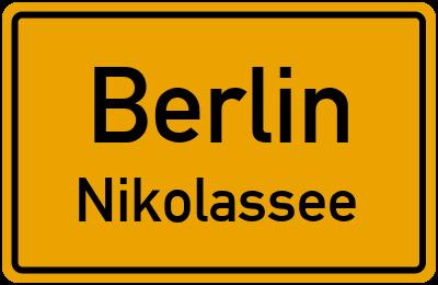 Straßenverzeichnis Berlin Nikolassee