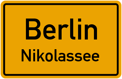 Ortsschild Berlin Nikolassee