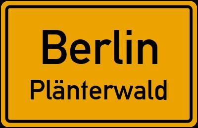 Ortsschild Berlin Plänterwald