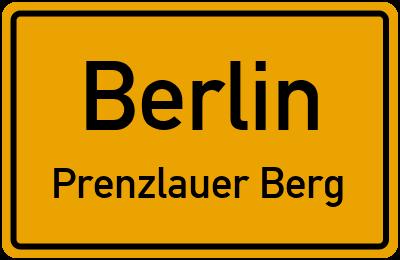 Straßenverzeichnis Berlin Prenzlauer Berg