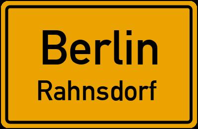 Straßenverzeichnis Berlin Rahnsdorf