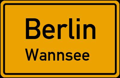 Straßenverzeichnis Berlin Wannsee