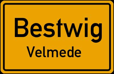 Bundesstraße in BestwigVelmede