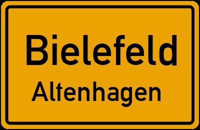 Ortsschild Bielefeld Altenhagen
