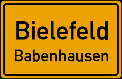 Ortsschild Bielefeld Babenhausen
