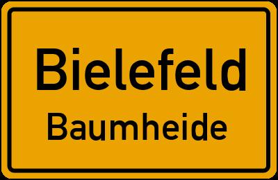 Ortsschild Bielefeld Baumheide