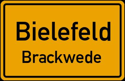 Ortsschild Bielefeld Brackwede
