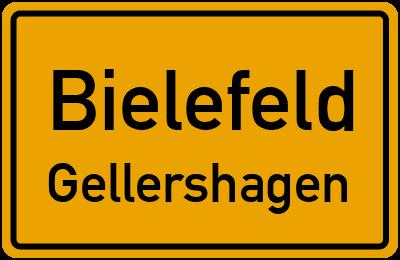 Ortsschild Bielefeld Gellershagen