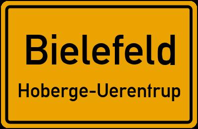 Ortsschild Bielefeld Hoberge-Uerentrup