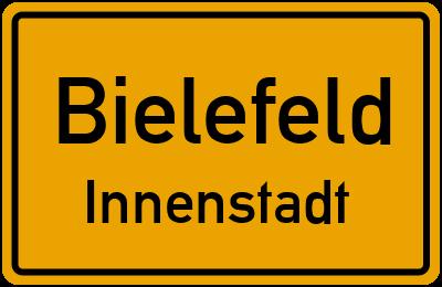 Ortsschild Bielefeld Innenstadt