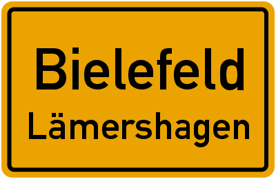 Ortsschild Bielefeld Lämershagen