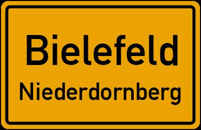 Ortsschild Bielefeld Niederdornberg