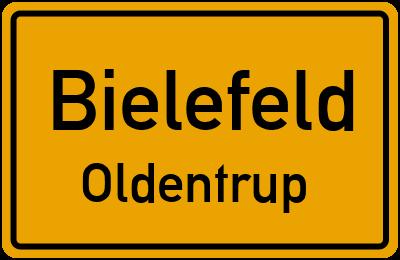 Ortsschild Bielefeld Oldentrup