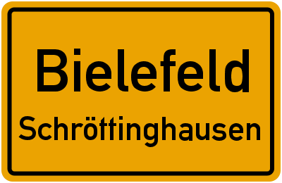 Ortsschild Bielefeld Schröttinghausen