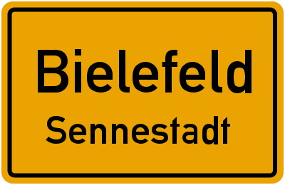 Ortsschild Bielefeld Sennestadt