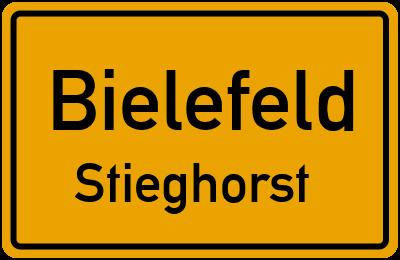 Ortsschild Bielefeld Stieghorst