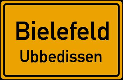Ortsschild Bielefeld Ubbedissen