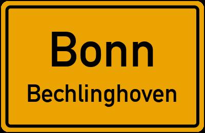 Straßenverzeichnis Bonn Bechlinghoven