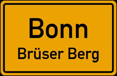 Straßenverzeichnis Bonn Brüser Berg