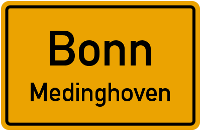 Straßenverzeichnis Bonn Medinghoven