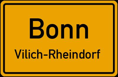 Straßenverzeichnis Bonn Vilich-Rheindorf