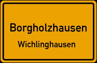Ortsschild Borgholzhausen Wichlinghausen