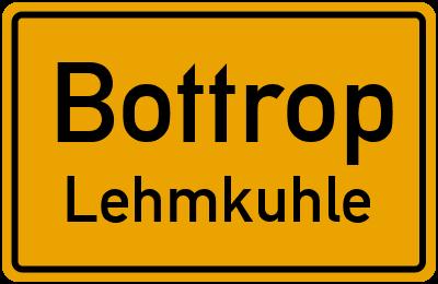 Ortsschild Bottrop Lehmkuhle