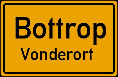 Ortsschild Bottrop Vonderort