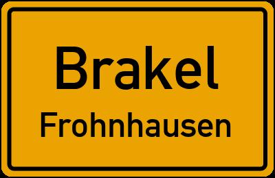 Ortsschild Brakel Frohnhausen