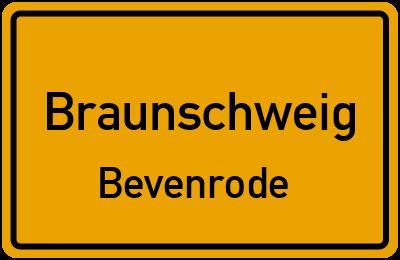 Ortsschild Braunschweig Bevenrode