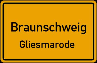 Ortsschild Braunschweig Gliesmarode