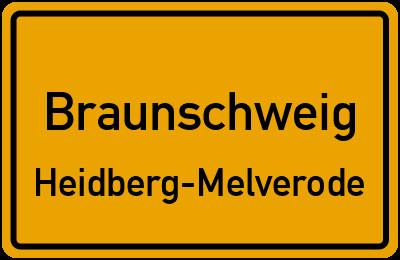 Ortsschild Braunschweig Heidberg-Melverode