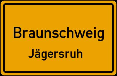Ortsschild Braunschweig Jägersruh