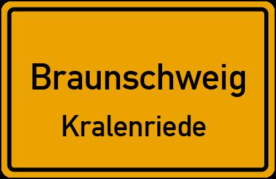 Ortsschild Braunschweig Kralenriede
