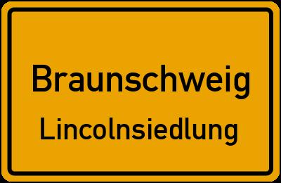 Ortsschild Braunschweig Lincolnsiedlung