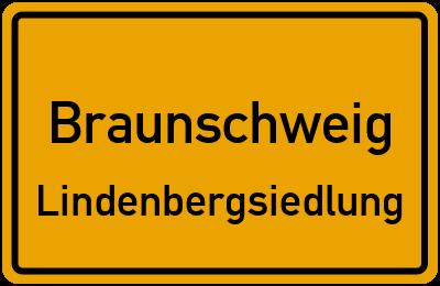 Ortsschild Braunschweig Lindenbergsiedlung