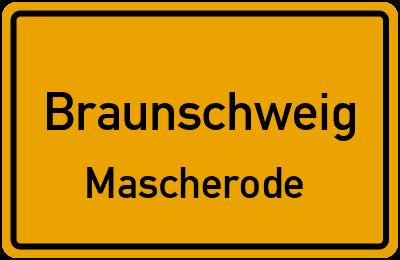 Ortsschild Braunschweig Mascherode