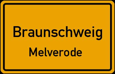 Ortsschild Braunschweig Melverode