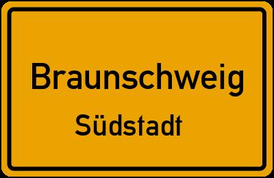 Ortsschild Braunschweig Südstadt