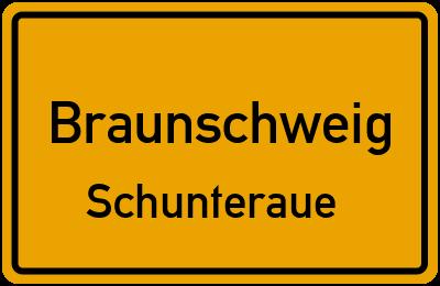 Ortsschild Braunschweig Schunteraue