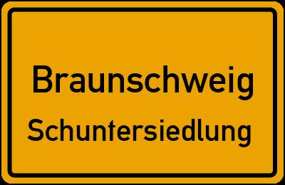 Ortsschild Braunschweig Schuntersiedlung