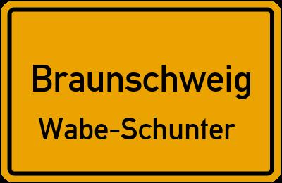 Ortsschild Braunschweig Wabe-Schunter