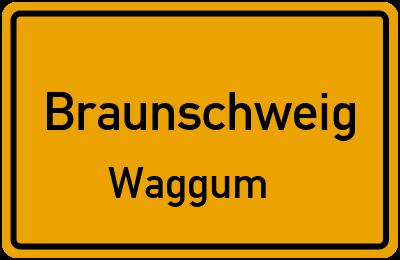 Ortsschild Braunschweig Waggum