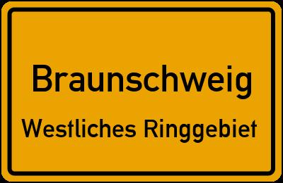 Ortsschild Braunschweig Westliches Ringgebiet