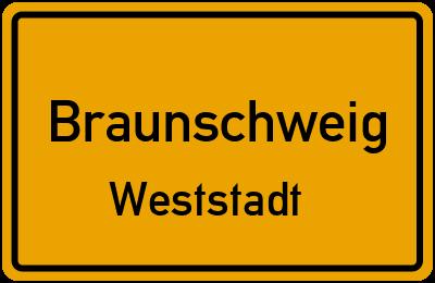 Ortsschild Braunschweig Weststadt