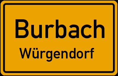 Ortsschild Burbach Würgendorf